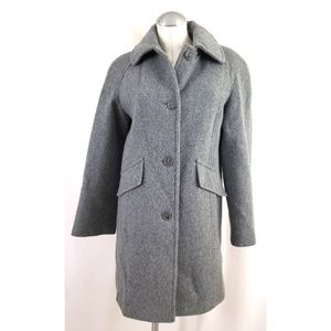 East 5th Size S Gray Wool Jacket Coat